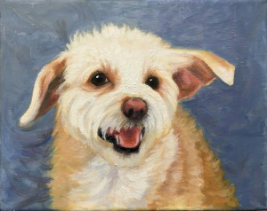 Pet portrait oil painting by Kim Victoria