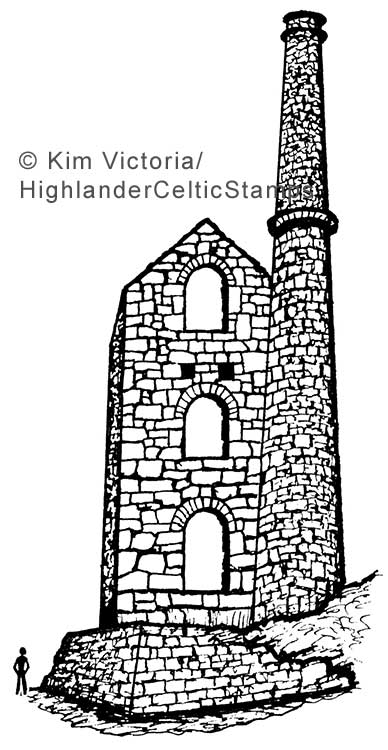 Wheelhouse Ruin rubber stamp image by Kim Victoria for Highlander Celtic Stamps